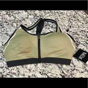 NWT Victoria Secret Knockout zip front sports bra